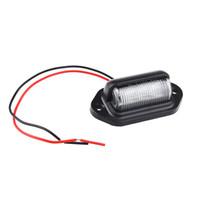1 piezas blanco 6 LED bombilla de matrícula para automóviles motocicletas barcos remolque de camión