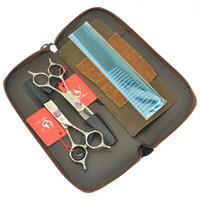 """6.0 """"Meisha Japonya 440C Kuaförlük Makas Salon Berberler Kesim İnceltme Makası Saç Jilet Profesyonel İnsan Saç Kesme Kitleri HA0430"""