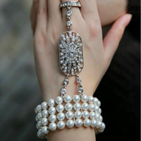 Mode 1 Stücke Braut Die Great Gatsby 1920er Kette für Hochzeit Schmuck Stretch Armband Lady And Girls 'Geschenk