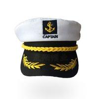 Bambini di vendita caldi Marinaio Capitano di barca Cappello Cappello Retro Uomini e donne Cappelli uniformi Cappuccio regolabile bianco 8gz W
