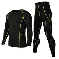 Men Quick Dry Long Johns Winter Fitness Gymming Sporting Sui...