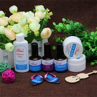 Nail Art 2x Clear Transparent UV Gel + Cleanser Plus + Primer Base Coat + Top Coat + Desiccant voor Manicure Tips Extension