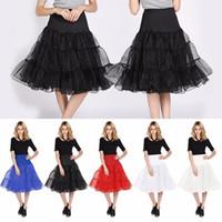 Marka Yeni Tamamen Düğün Gelin Petticoat Birçok Renkler Hoopless Kabarık Etek Lady Kızlar Jüpon Rockabilly Dans Petticoat Etek Tutu