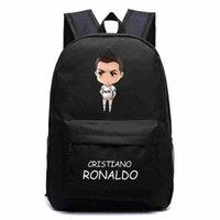 حقائب الظهر Escolar Ronaldo Football Canvas فتاة الكرتون عارضة أكياس مدرسة كريستيانو للمراهقين الظهر حقيبة الظهر mochila الصبي