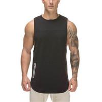 ef0dcb3157 Camisola de alças dos homens da camisola de alças 2018 Singlet Fitness  Vestuário Men Tanktop Sleeveless