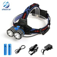 Shustar LED Headlamp 2 x T6 8000 Lumens led headlight 4 ligh...