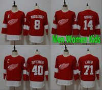 Men Women Youth Kids Detroit Red Wings 8 Justin Abdelkader 14 Gustav  Nyquist 40 Henrik Zetterberg 71 Dylan Larkin Red Jerseys All Stiched 38bb94988