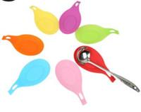 Reutilizable silicona esteras cuchara aislante resistente al calor tenedor palillo titular vajilla de cocina pats multi colores cuchara bandeja