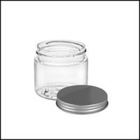 Pot 2oz en verre avec couvercle en aluminium contenant cosmétique Transparent Dab Jar pour Cire à l'huile épaisse DHL gratuit