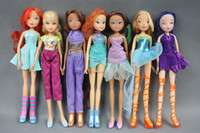 1 unids 28 cm Super High Winx Club Doll rainbow colorful girl Figuras de Acción Muñecas y Juguetes Para Niñas regalo