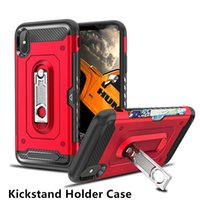 Schieben Sie Kartenhalter Hybrid Case für iPhone 6.1 6.5 iPhoneX 7 7plus Soft Matt Cover Telefon Fall für S9 S9plus Note9 Note8