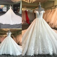 Hight Quality A Line Wedding Dresses Scoop Off The Shoulder ...