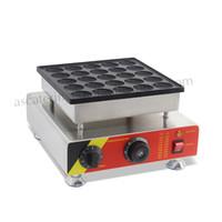 Kommerzielle Nichtstick Electric Mini Holländische Pfannkuchenhersteller Poffertjes Grillmaschine 25pcs / Batch Edelstahl 220V 110V CE-Zulassung