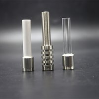510 Thread Titanium quartz ongles céramiques Conseils pour DAB Paille Vapé Micro NC Kit TI Astuce pour peigne Tuyau d'eau en verre DAB