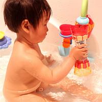 Bebê De Plástico Banho Brinquedos de Natação Da Água Whirly Wand Copo De Água Rotary Dreno De Água Coluna de Praia Brinquedos Para Crianças Dos Miúdos Meninos Presente
