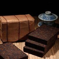 200g de Yunnan promoción tradicional Dull-rojo hecho a mano Presionado Puer Puer ladrillo madura Pu Er té orgánico Negro Natural Pu'er ladrillo cocido