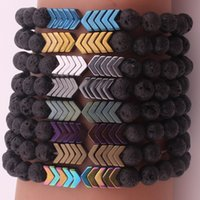 Volcanic Lava Stone Essential Oil Diffuser Bracelets Bangle ...