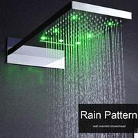 욕실 럭셔리 벽에 장착 된 샤워 헤드를 직사각형 하이드로 파워 LED가 짙은 폭포 욕실 샤워 임베디드 biox