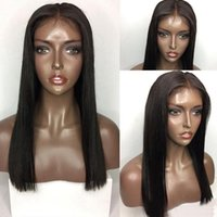 Wholesale Natural Soft 1b# Black Short Bob Synthetic Wigs He...