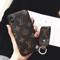 For iphone X XS XR Xs max New Luxury Phone Leather Case Tag ...