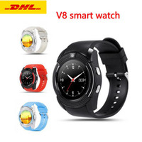 V8 Bluetooth Smart Watch Round Touch Screen Wristwatch With ...