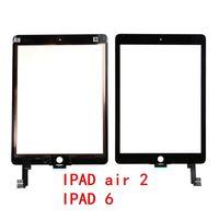 Haute qualité ipad air 2 Digitizer panneau de verre à écran tactile avec boutons Assemblée de colle adhésive pour iPad Air 2 ipad 5 6 mini 60 pcs