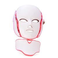 Mais novo 7 cores rejuvenescimento da pele levou máscara facial com pescoço para uso doméstico