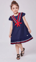 New Arrival Children Clothing Toddler Girls Navy Style Princ...