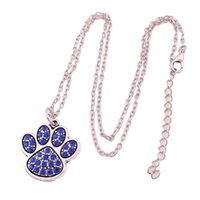 High Grade Unisex Necklace Animal Cat Paw Print Shape Charm ...