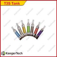 Oryginalny Kanger T3S Aparat Vapor Atomizer 14mm średnicy EGO 510 Gwint dolna cewka 8 kolorów E-papieros DHL