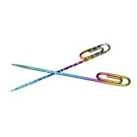 2 pcs colorés trombones titane Wax Dabber par sac trombone Design