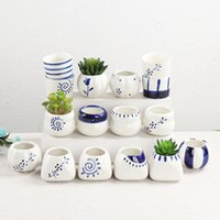 New Succulents Pots Decorative Fashion Simple White Mini Flo...