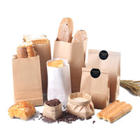 100Pcs Kraft Paper Bag Gift Bags Candy Cookie Bread Nuts Bag...