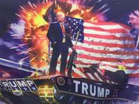 Donald John Trump Amercia Flags Bardian Polyester Canvas Head Gommino in metallo Personalità Unique Rimovibile Ambientazione interna Utensili all'aperto 20ym dd