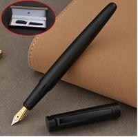 Full Metal Matte fil noir corps Iraurita stylo à plume 0,5 mm stylos à encre Bureau d'affaires caneta tinteiro Papeterie Boîte-cadeau 1037