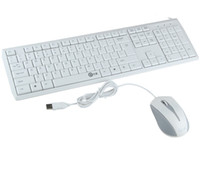 V100 Ultra Thin Wired 104 keys Multimedia Keyboard and Mouse...