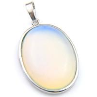 Luckyshine bijoux de haute qualité classique ovale ovale opale arc-en-ciel lune gemmes 925 collier pendentif argent plaqué argent bijoux de mariages américains