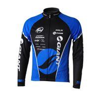 Homens Ciclismo Jersey Gigante equipe Inverno Thermal Manga Longa MTB Camisa Bicicleta Quente Roupas de Bicicleta Ao Ar Livre Uniforme Esportivo