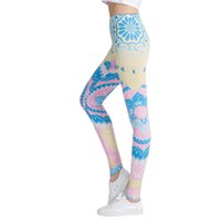 2018 New Honeycomb Letter Printed Women Fitness Leggings Ski...