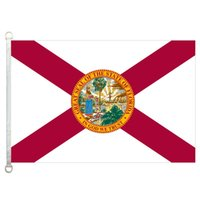 Florida Flag Banner 3X5FT-90x150cm 100% Polyester, 110gsm Kettenwirkware Outdoor-Flagge
