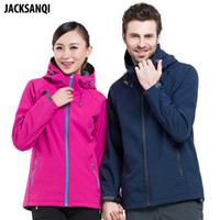 JACKSANQI Men Women' s Winter Softshell Jackets Outdoor ...