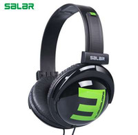 Salar Big E 3.5mm Wired Gaming Headphones Cuffia pieghevole regolabile Over Ear Stereo Deep Bass per telefono Tablet computer