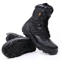 New Army Boots Men' s Genuine Leather Snow Boots Shoes O...