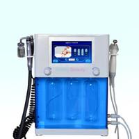 전문 4 in 1 Hydra Dermabrasion RF 바이오 리프팅 아쿠아 페이셜 클리닝 기계 물 필링 껍질 장비 CE