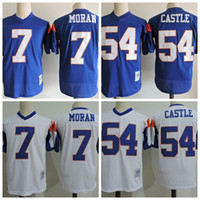 Mens Kevin Thad Castle # 54 Blue Mountain State Football Jersey Blue Mountain State Thad Castle # 7 Alex Moran Tedesco Football Jersey