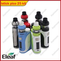 Orijinal 85 W Eleaf iStick Pico 25 Vape Kiti ile 2 ml Ello Tankı 0.2ohm / 0.3ohm HW Bobin E-çiğ