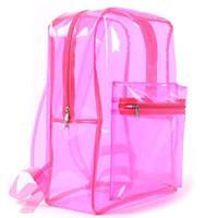 Прозрачный рюкзак для стадиона, одобренный девушкой, рюкзак, пляжная сумка, прозрачный поливинилхлорид.
