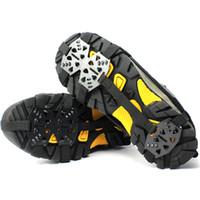 1 par 24 Stud Universal Crampones Hielo antideslizante Zapatos de nieve Picos Puños Senderismo Escalada Caminata Zapatos antideslizantes Tapas de cubierta