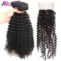 Wholesale Best 10A Brazilian Hair Kinky Curly with Lace Clos...