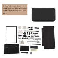 طقم إصلاح غلاف كامل لحالة الغطاء السكني طقم إصلاح استبدال كامل لنينتندو لـ 3DS XL يشمل جميع الأزرار والمفاتيح المطاطية